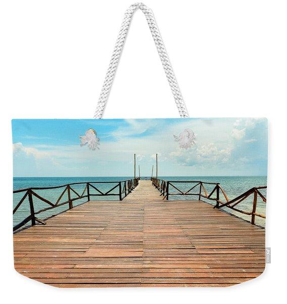 Dock To Infinity Weekender Tote Bag