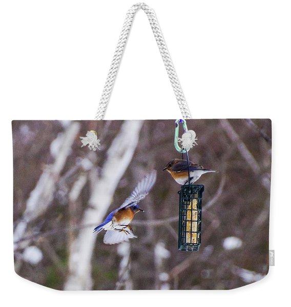 Docking Bluebird Weekender Tote Bag