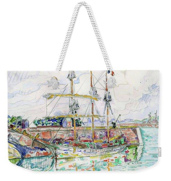 Docks At Saint Malo - Digital Remastered Edition Weekender Tote Bag