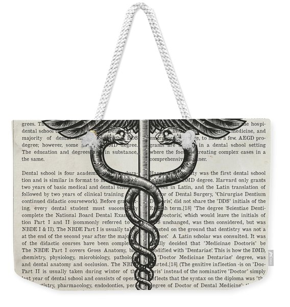 Doctor Of Dental Surgery Gift Idea With Caduceus Illustration 01 Weekender Tote Bag