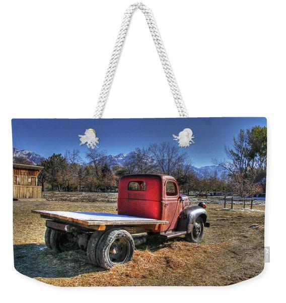 Dodge Flat Bed Truck On Farm Weekender Tote Bag