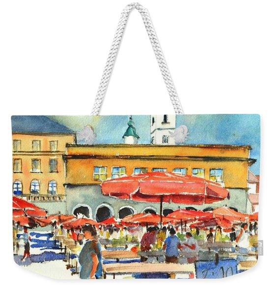 Dolce Market In Zagreb #1 Weekender Tote Bag