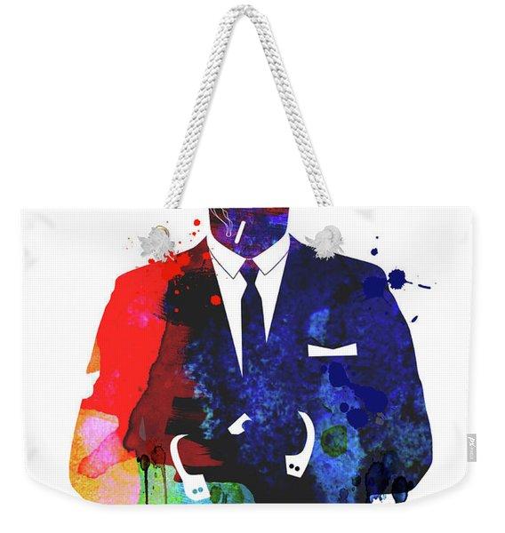 Don Draper Watercolor Weekender Tote Bag