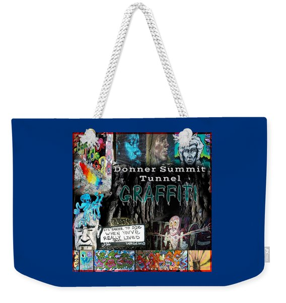 Donner Summit Graffiti Weekender Tote Bag