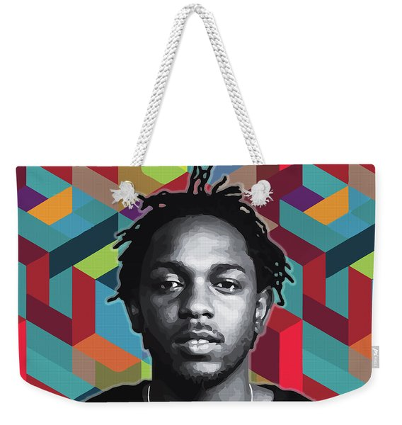 Weekender Tote Bag featuring the painting Don't Kill My Vibe Kendrick by Carla B