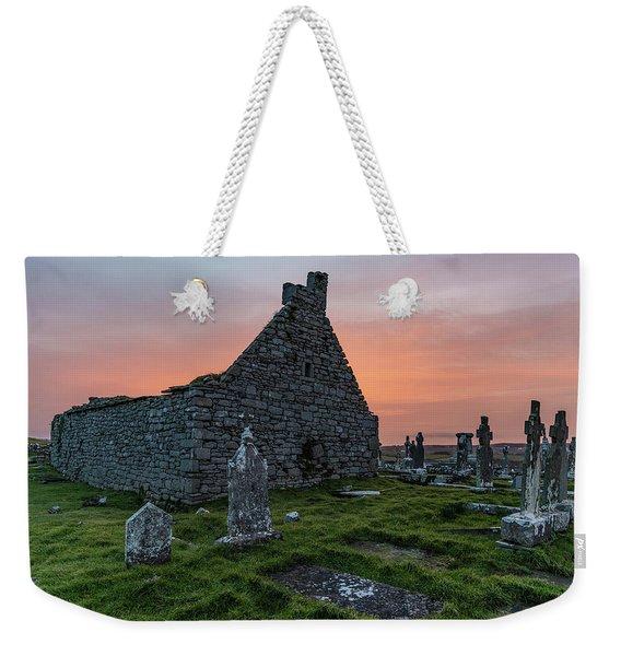 Doolin Ireland Graveyard At Sunrise Weekender Tote Bag