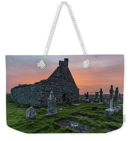 Doolin Ireland Graveyard At Sunrise Weekender Tote Bag