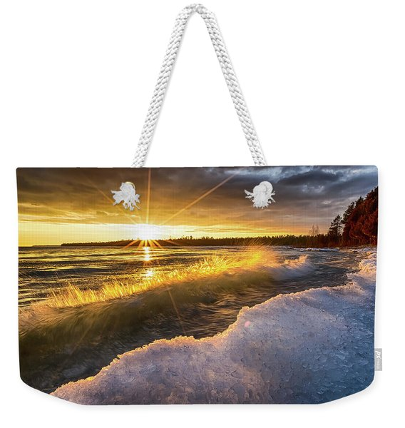 Door County Sunset Weekender Tote Bag