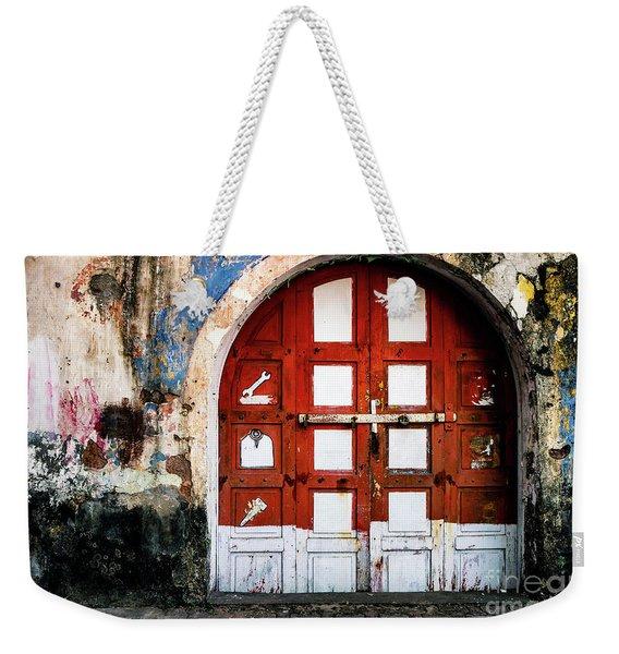 Doors Of India - Garage Door Weekender Tote Bag