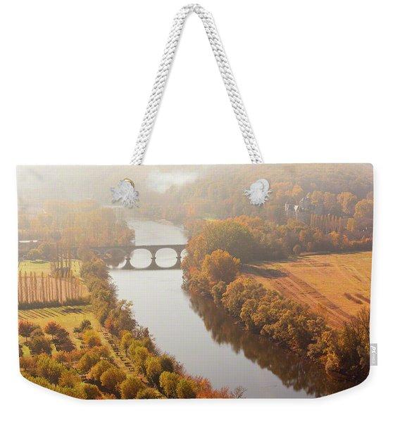 Dordogne River In The Mist Weekender Tote Bag