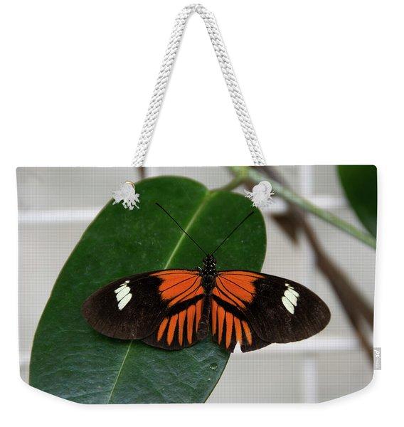 Doris Longwing On Leaf Weekender Tote Bag