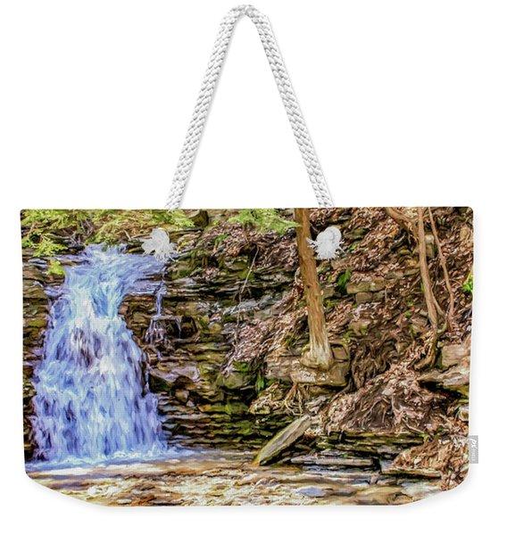 Double Cascade Waterfalls Weekender Tote Bag