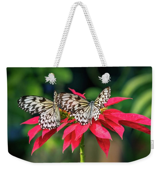 Weekender Tote Bag featuring the photograph Double Delight by Robin Zygelman