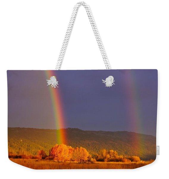 Double Gold Weekender Tote Bag
