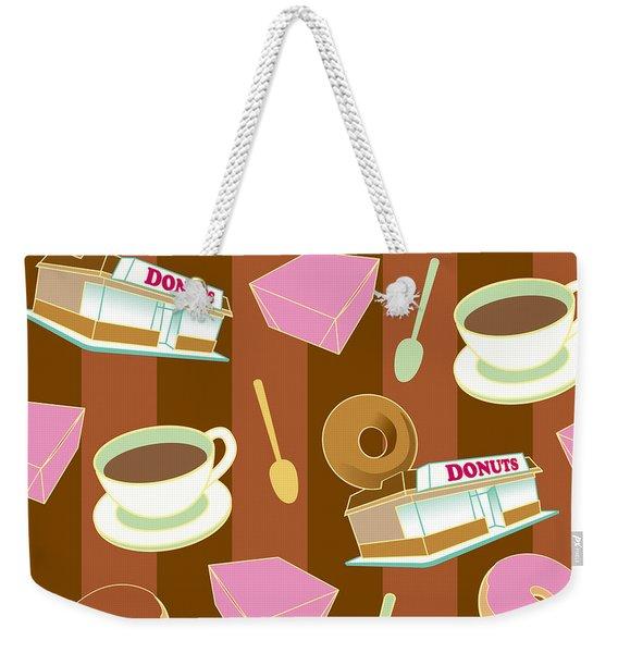 Doughnut_wallpaper_f2 Weekender Tote Bag