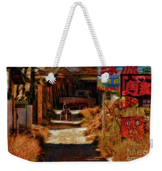 Down The Hill In China Weekender Tote Bag