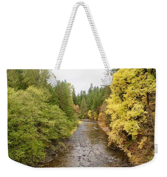 Down The Molalla Weekender Tote Bag