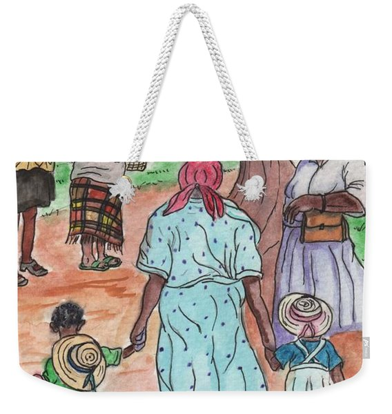 Down The Red Road And Past The Magnolia Tree Weekender Tote Bag