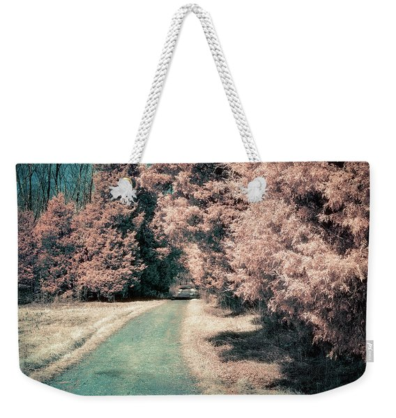 Down The Road Weekender Tote Bag