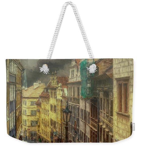 Downhill, Downtown, Prague Weekender Tote Bag