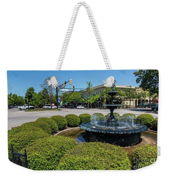 Downtown Aiken Sc Fountain Weekender Tote Bag
