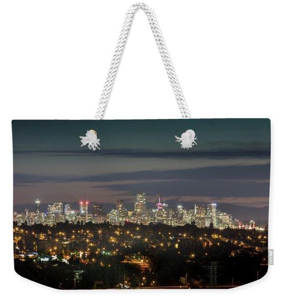 Downtown Dusk Weekender Tote Bag
