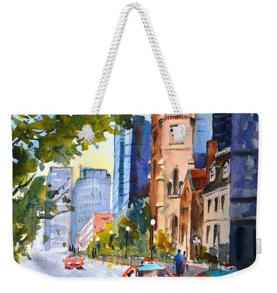 Downtown Toronto Weekender Tote Bag