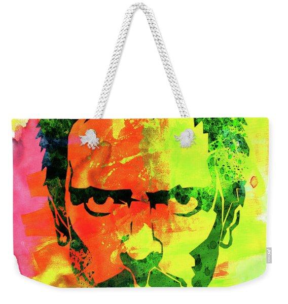 Dr. Gregory House Watercolor Weekender Tote Bag
