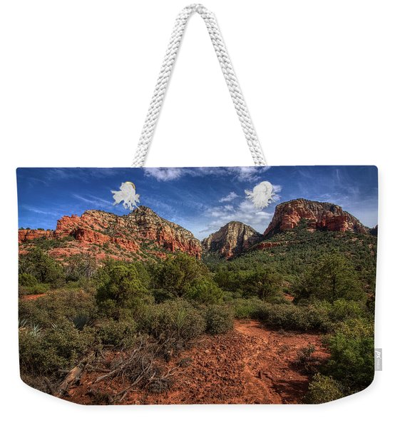 Dramatic Cloudscape Over Capitol Butte Weekender Tote Bag