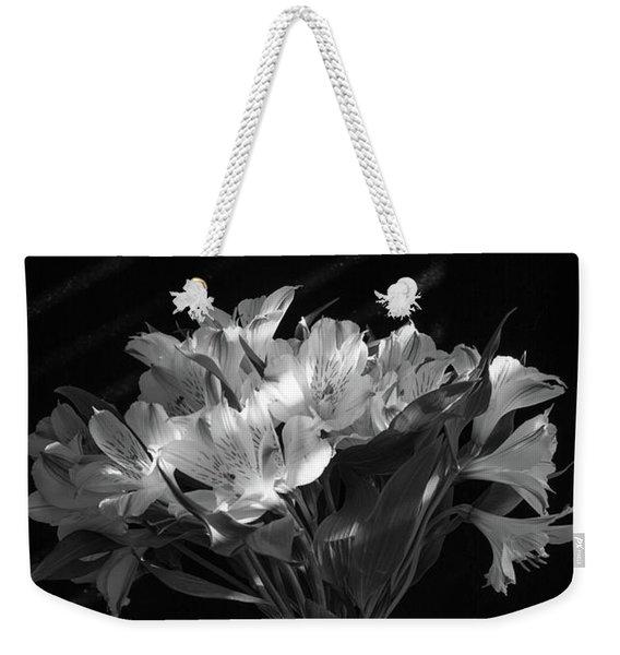 Dramatic Flowers-bw Weekender Tote Bag