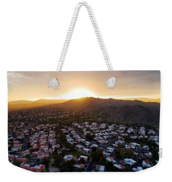Dramatic South Mountain Sunset Weekender Tote Bag