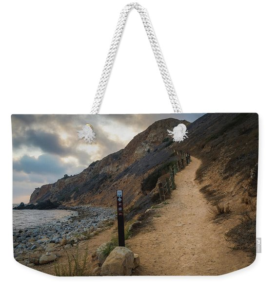 Weekender Tote Bag featuring the photograph Dramatic Tovemore Trail by Andy Konieczny