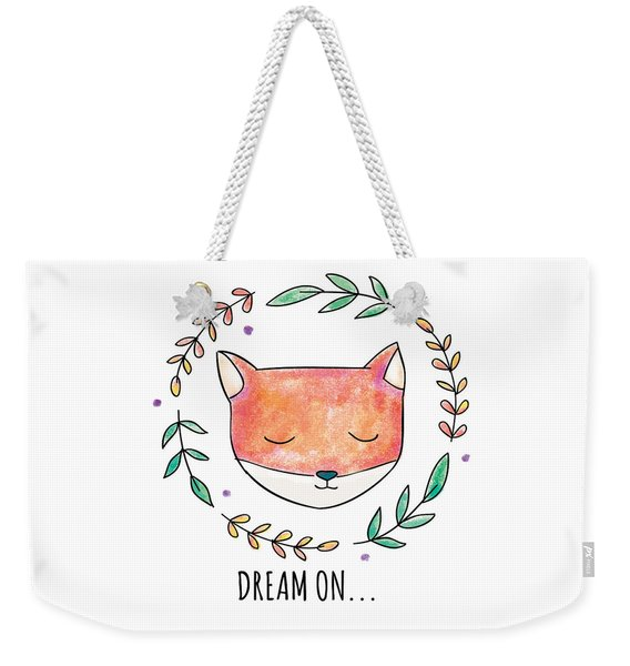 Dream On - Boho Chic Ethnic Nursery Art Poster Print Weekender Tote Bag