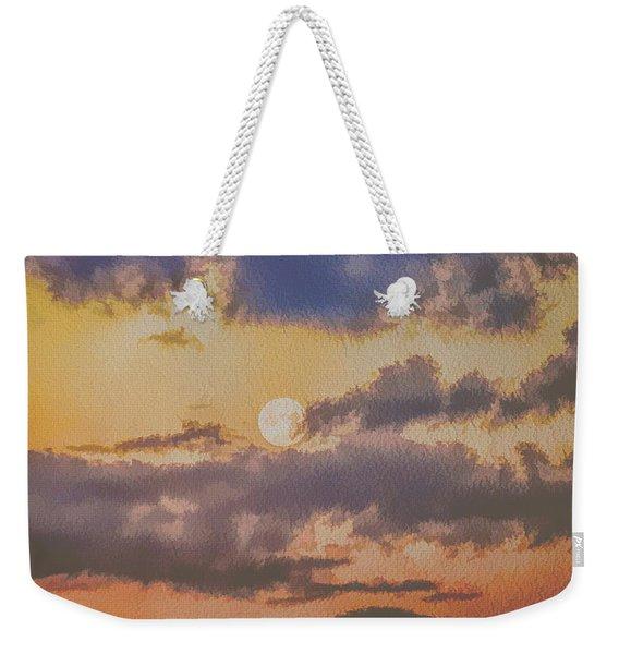 Dreamy Moon Weekender Tote Bag
