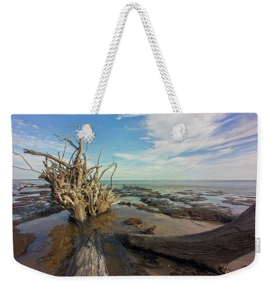 Drift Wood Beach Weekender Tote Bag