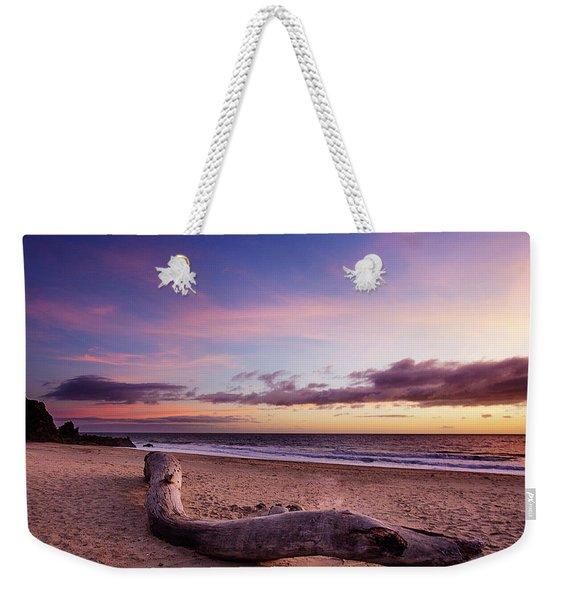 Driftwood At Sunset Weekender Tote Bag