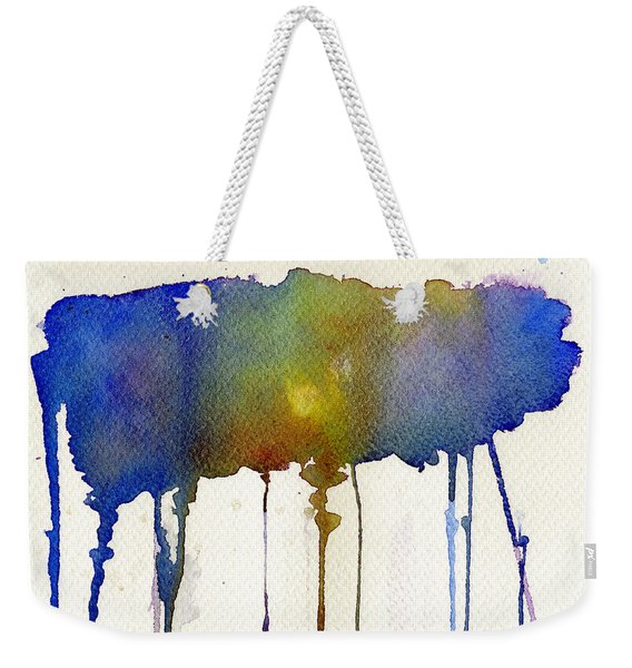 Weekender Tote Bag featuring the painting Dripping Universe by Bee-Bee Deigner
