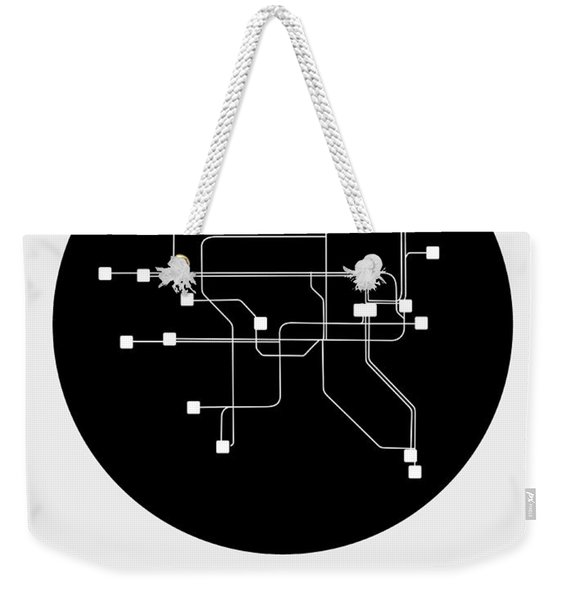 Dublin Black Subway Map Weekender Tote Bag