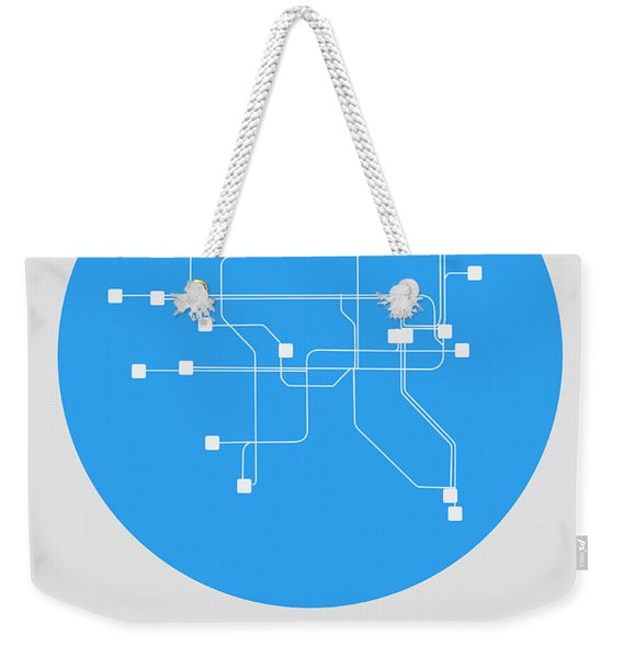 Dublin Blue Subway Map Weekender Tote Bag