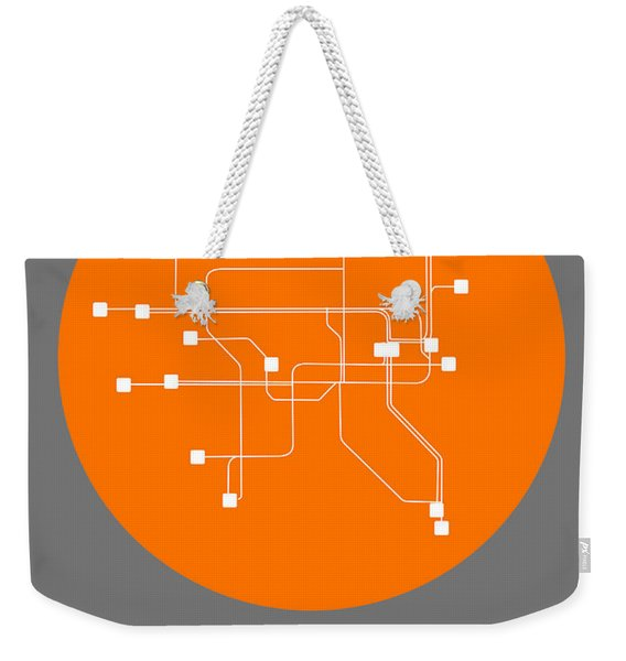 Dublin Orange Subway Map Weekender Tote Bag