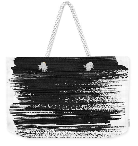 Dublin Skyline Brush Stroke Black Weekender Tote Bag
