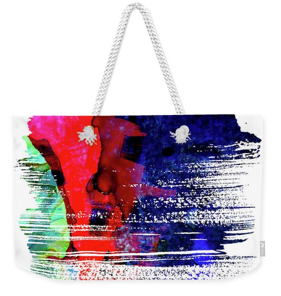 Dublin Skyline Brush Stroke Watercolor   Weekender Tote Bag