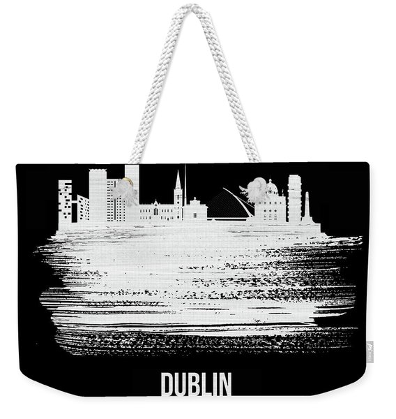 Dublin Skyline Brush Stroke White Weekender Tote Bag