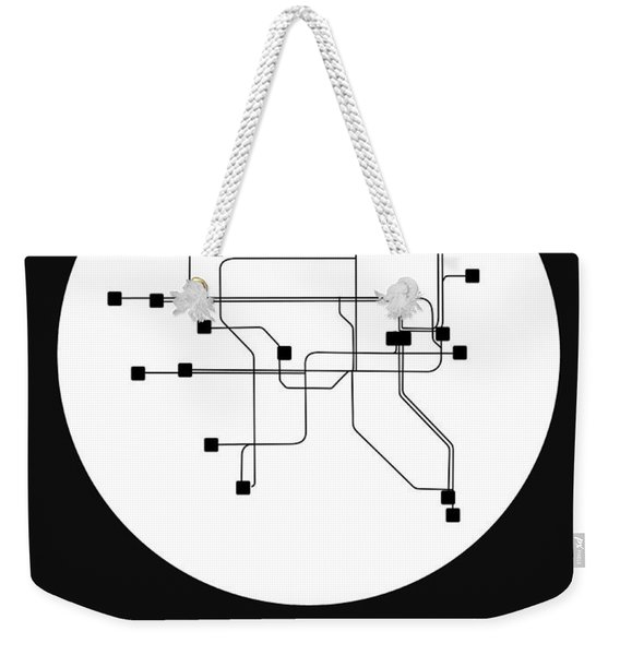 Dublin White Subway Map Weekender Tote Bag