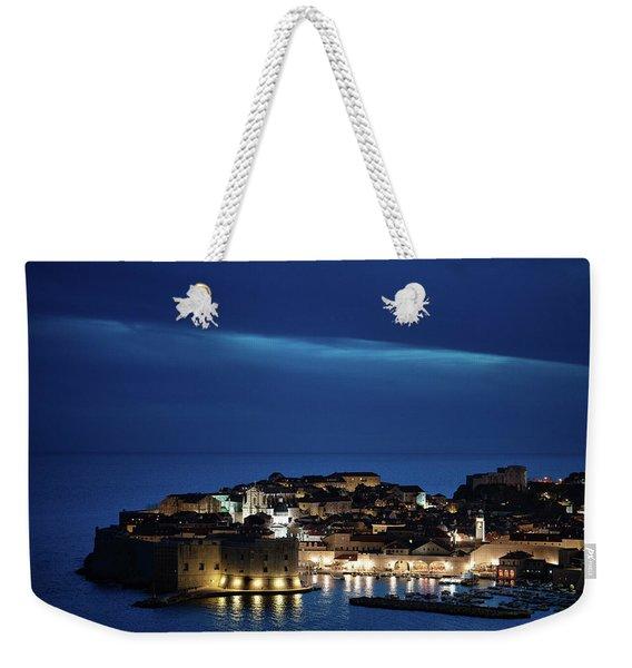 Dubrovnik Old Town At Night Weekender Tote Bag