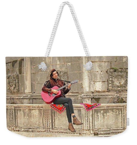 Dubrovnik Street Musician Weekender Tote Bag