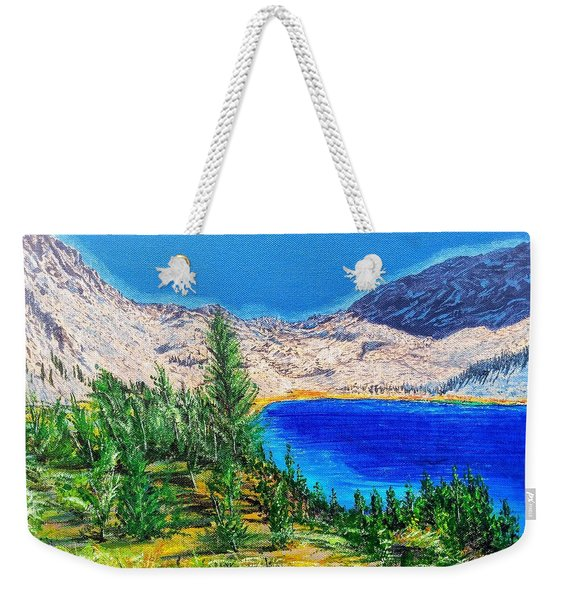 Weekender Tote Bag featuring the painting Duck Pass by Kevin Daly