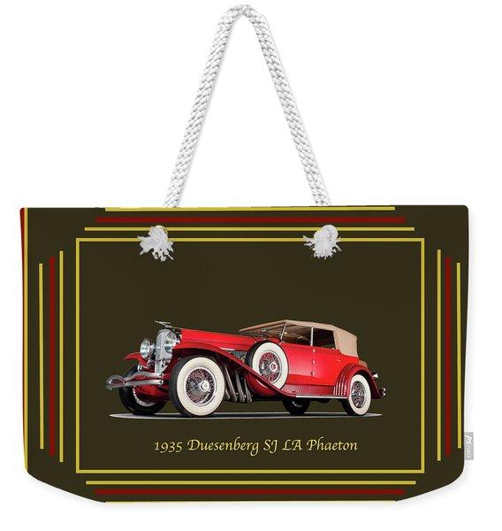 Duesenberg 1935 Weekender Tote Bag