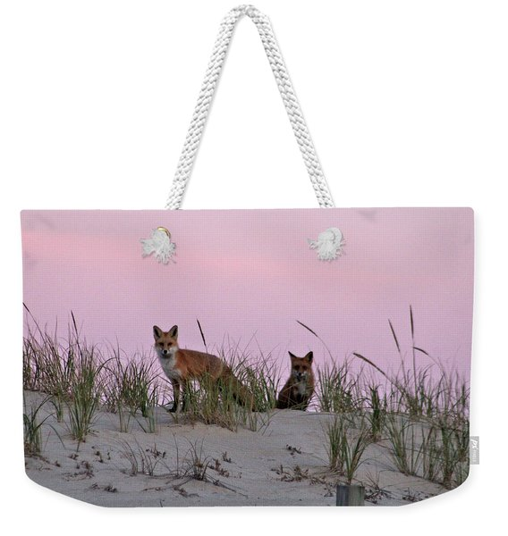 Dune Foxes Weekender Tote Bag