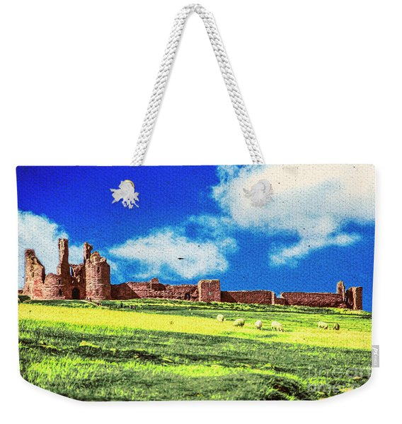 Dunstanburgh Castle In Oil Weekender Tote Bag